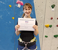My Adaptive Climbing Initiative certificate.