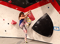 Bouldering at last year's New Year's boulder comp at Threshold